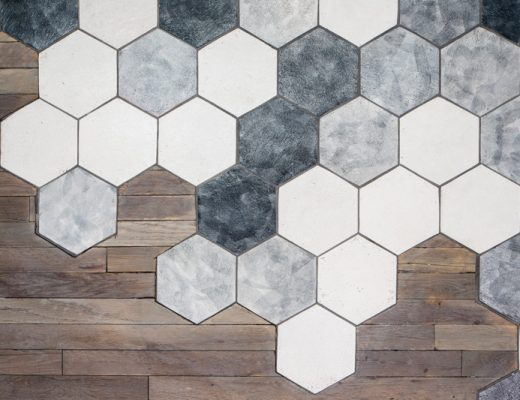 Hexagon floor wood tile