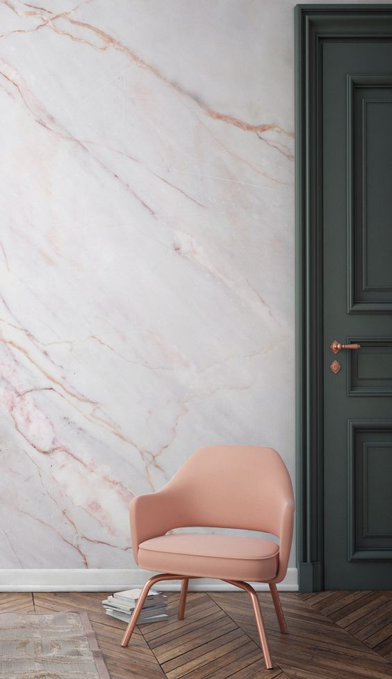 Marble Wall Green & Pink